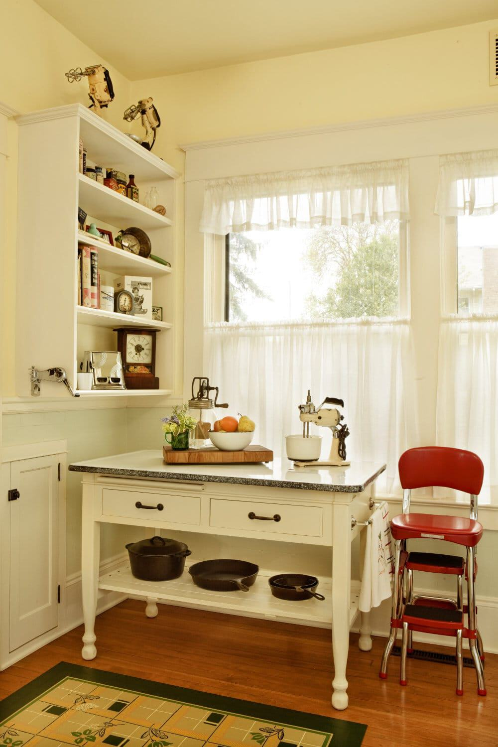 Young Kitchen table and cabinets